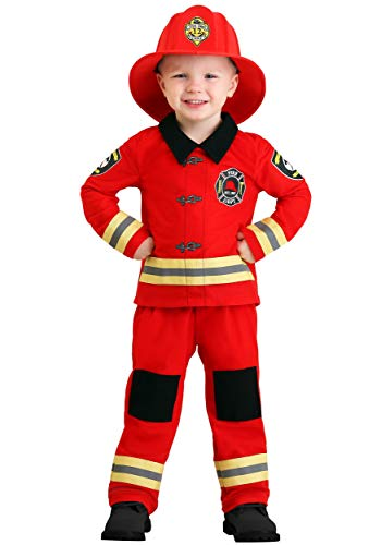 Toddler Friendly Firefighter Costume 12/18 Months Red