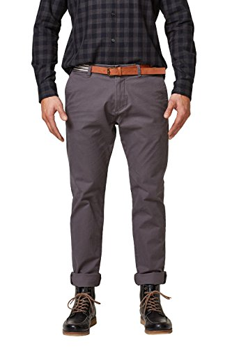 ESPRIT Collection Herren 127EO2B004 Hose, Grau (Dark Grey 020), W34/L34