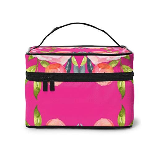 Make-up Taschen Etuis,Kosmetiktaschen 04954964 Chevron 6 Bars Red Wallpaper (54) Travel Makeup Bag Portable Makeup Boxes for Women Cosmetic Case Storage Organizer Travel Daily Carry