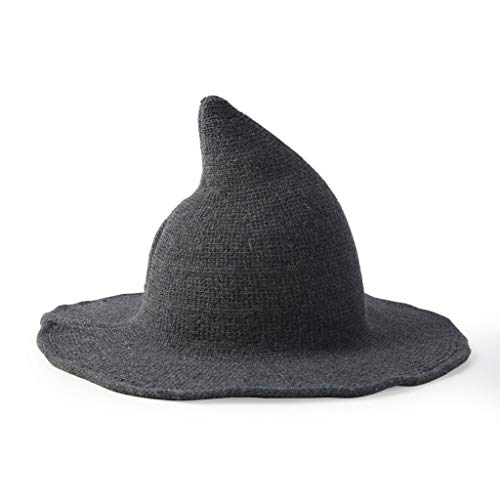 GOKOMO Fischerhut Damen schwarz zauberhut für Kinder Damen strickmütze Damen Halloween hexenhut basteln Hexe Hut Hexe Kostüm