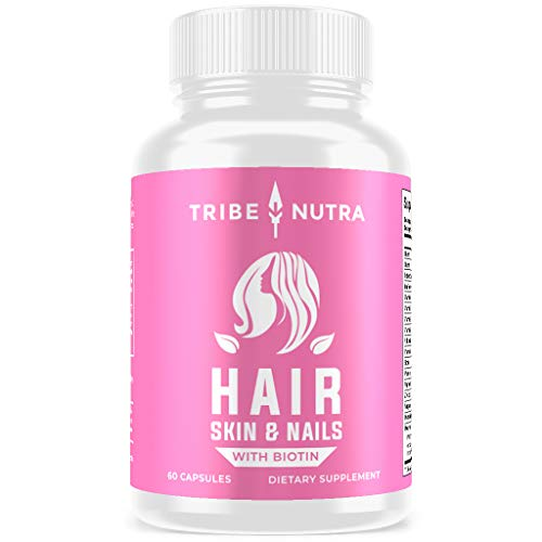 Hair Growth Vitamins for Women - Scientifically Formulated for Longer, Stronger, Silkier Hair - Packed with Biotin, Saw Palmetto, Fo-Ti - Hair Loss Thinning Supplement for Women