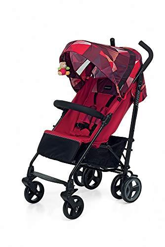 Foppapedretti Hurwird Kompakter Kinderwagen für Kinder von 0 bis 3 Jahren Coral Red