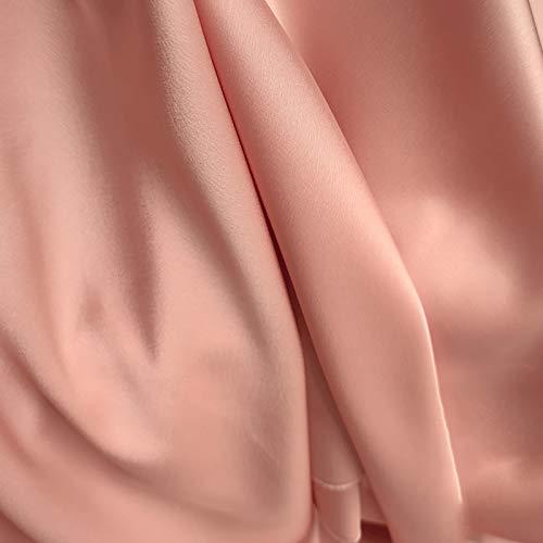 MUYUNXI Tela De Raso Forro De Tela para Vestidos De Novias Fundas Artesanías Vestidos Blusas Ropa Interior 148 Cm De Ancho Vendido por 2 Metro(Color:Rosa)