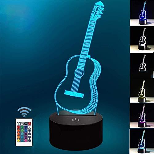 WEIZI Lámpara de ilusión 3D Luz de Noche para habitación Lámpara de Escritorio de Mesa 6 Colores Que cambian la decoración del hogar Luces de Escultura de Arte LED de acrílico con Control Remoto (