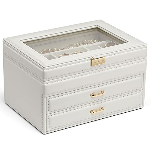 ABCSS Joyero,Caja de Almacenamiento de Pendientes,lápiz Labial Pendientes Collar joyería Caja de Almacenamiento de Joyas de múltiples Capas