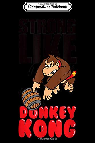 Composition Notebook: Nintendo Strong Like Donkey Kong Barrel Throw Journal/Notebook Blank Lined Ruled 6x9 100 Pages