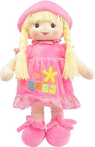16 Little Sweet Hearts Interactive Soft Plush RAG Doll 90958 Linzy Toys Embroidered FACE /& Removable Clothes