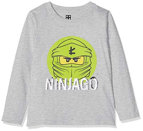 LEGO Jungen cm Wendepailletten Ninjago Langarmshirt, Grau (Grey Melange 912), (Herstellergröße: 128)