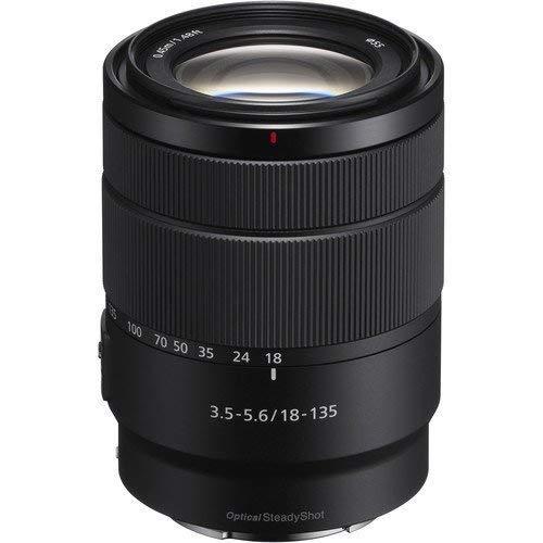 Sony SEL18135 - Lente Zoom (Montura E, Formato APS-C, 18-135 mm F3.5-5.6 OSS, Zoom de 7.5 x), Color Negro