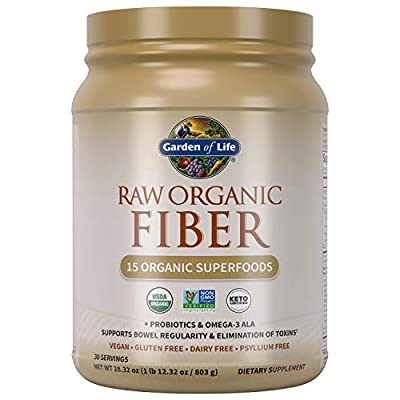 Garden of Life Garden of Life Raw Organic Superfood Fiber for Constipation Relief, 1.77oz (803g) Powder