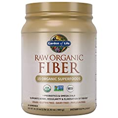 VEGAN FIBER: Our RAW fiber contains 9g of fiber per serving (36% DV) along with 7 grams of protein, probiotics, and omega 3 fatty acids for overall health SUPERFOOD FIBER: RAW fiber is made with 15 RAW organic superfoods, including sprouted seeds, gr...