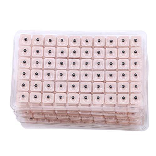 Bigsweety 10 Stücke Magnetische Akupressur Ohr Perlen Pellets Samen 600 Zählungen Magnetische Akupressur Patches Muscle Putze Kit