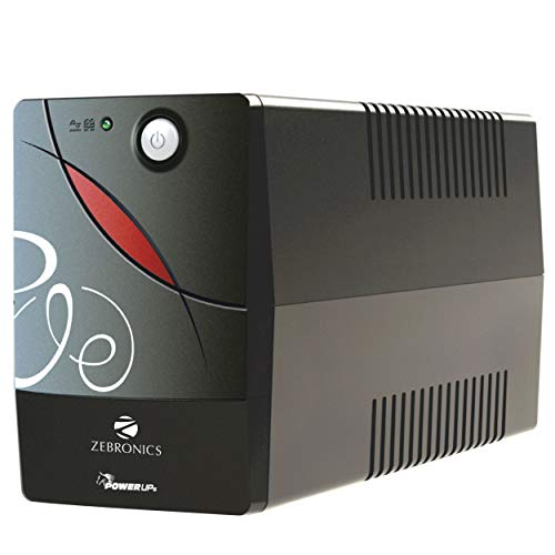 ZEBRONICS Zeb-U725 600VA UPS for Desktop/PC/Computers with Automatic Voltage Regulation, Black