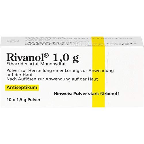 Rivanol 1,0 g Pulver Antiseptikum, 10 St. Beutel