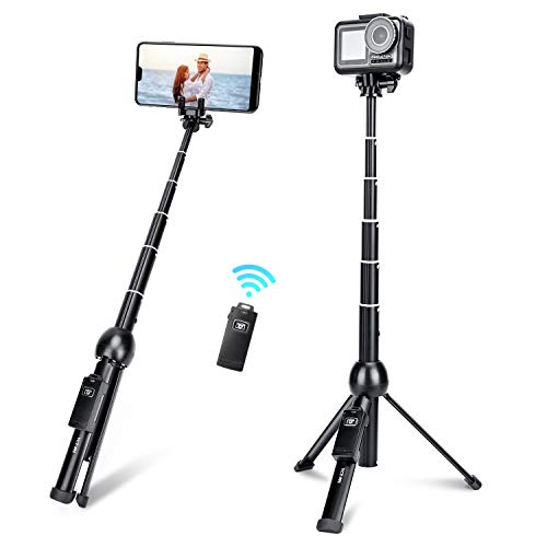 Selfie Stick,45 Inch Extendable Selfie Stick Tripod with Rechargeable Wireless Remote and Phone Tripod Stand,Compatible with iPhone 11 Pro Xs X 8 7 6 Plus,Samsung Galaxy Note10 S10 S9 S8,Gopro