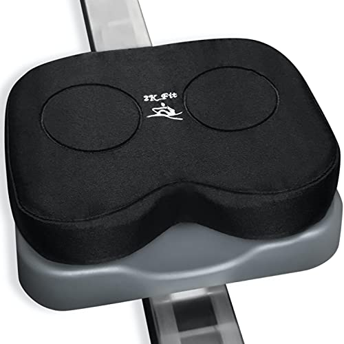 Rowing Machine Seat Cushion (Model 1) That Perfectly fits Concept 2 with Thick Updated Dual Density Memory Foam and Washable Cover