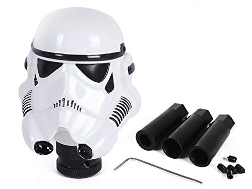 FabSelection Universal Auto Car Manual Gear Stick Shift Shifter Lever Knob Cover Star Wars Clone Trooper White