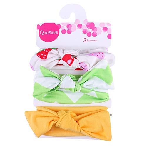 Diadema elástica para bebé, 3 unidades para niñas, para bebé, diseño floral