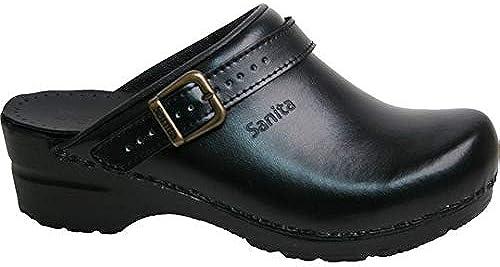 Sanita 811243 Modèle 38 Flex Flex Clog Sabots avec sangle Noir Taille 43  bas prix