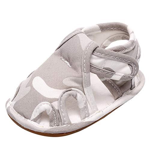 YWLINK Sandalias De Verano para Bebé Zapatos Antideslizantes para NiñOs PequeñOs Baotou Zapatos De Cama De Fondo Suave Zapatos De Primer Paso Zapatillas De Playa CóModas Fiesta De Bautizo Regalo