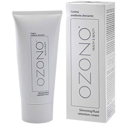 Ozono H&B - Crema corporal drenante – Tratamiento profesional – Aceite ozonizado con extractos naturales nutritivos – Antibacteriana – Bio-estimulante anticelulitis – Fabricado en Italia (200 ml)