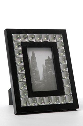 Cadre photo noir et blanc avec strass