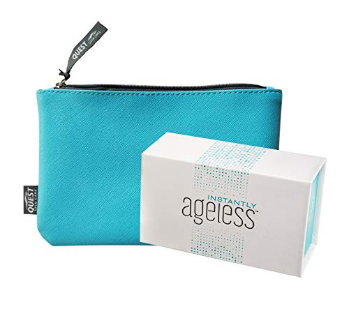 Jeunesse Instantly Ageless 25 Vials w/FREE Quest Skincare Makeup Bag | Instantly Ageless 25 Vial Box Set with FREE FULL SIZE Quest Skincare Makeup Bag