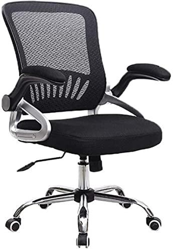 Taburete de bar cómodo para invitados, silla de oficina, silla de escritorio, silla giratoria ajustable, silla de escritorio, silla de oficina, escritorio giratoria, color negro/azul/rojo