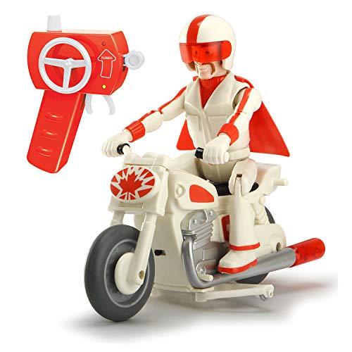 Dickie Toys- RC Toy Story Motocicletta di Duke Caboom, Scala 1:24, cm. 22, 2 canali, frequenza 2,4GHz, Funzione Turbo, con Personaggio, Multicolore, 203154003