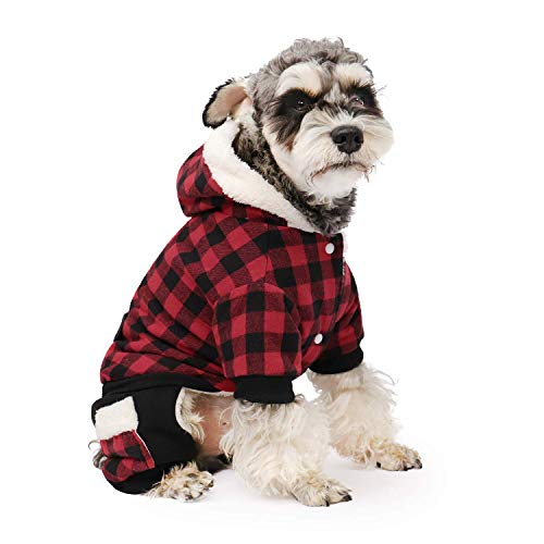 PAWZ Road Dog Plaid Coat Pet Winter Clothes Warm and Soft for Small...