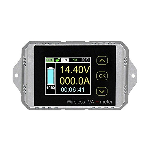 Wireless Battery Monitor Voltage Current Meter DC 0~400V 300A~ 300A Watt Power Capacity LCD Digital Tester