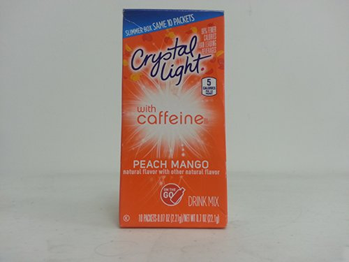 Crystal Light Sugar-Free Peach Mango Drink Mix (60 On-The-Go Packets, 6 Packs Of 10)
