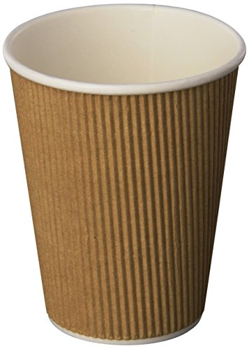 Genuine Joe GJO11260PK Insulated Ripple Hot Cup, 12-Ounce Capacity (Pack of 25),Brown