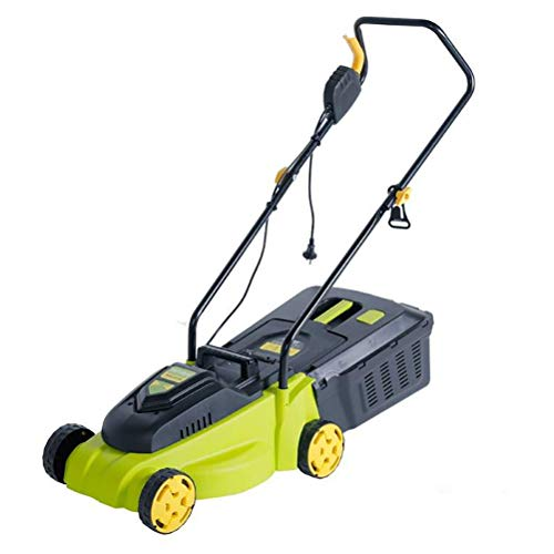 Check Out This MLXG Hand Push Small Electric Grass Trimmer,Mowing Width 33cm and 6 Levels to Adjust ...
