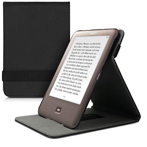 kwmobile Hülle kompatibel mit Tolino Shine - Schlaufe Ständer - e-Reader Schutzhülle - Schwarz