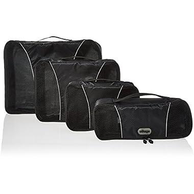 eBags Packing Cubes - 4pc Classic Plus Set (Black)