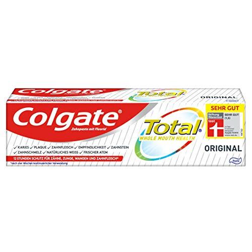 Colgate Total Zahnpasta Original, 1 x 75ml - Zahncreme gegen Karies und Plaque. Schützt den Zahnschmelz