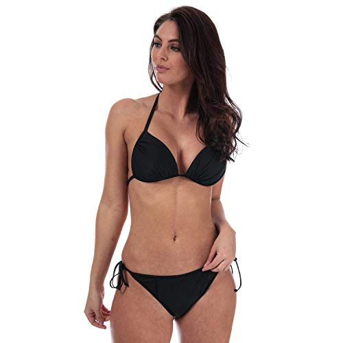 Womens Vero Moda Volume Push Up Bikini Top in black.
