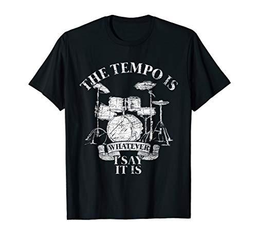 Schlagzeug T-Shirt Tempo Schlagzeuger Geschenk Drummer Musik