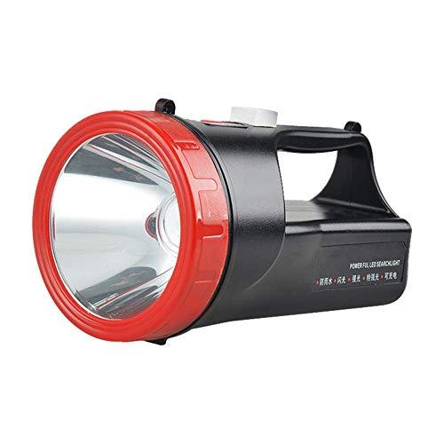 GLJJQMY Searchlight LED Light Outdoor Portable Searchlight Glare Batterie au lithium Rechargeable d'urgence lampe de poche Adventure Light lampe de poche