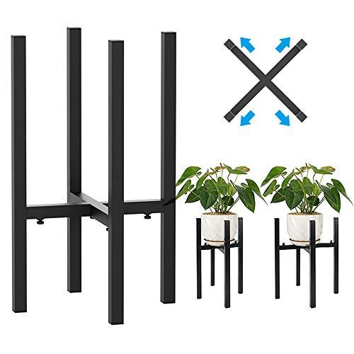 Cotify - Supporto per piante da giardino in metallo, per esterni, patio, giardino, con supporto per fiori regolabile, confezione da 2