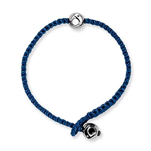 Lokai Metals Collection Single Wrap Bracelet, Navy/Silver, 7' - Large