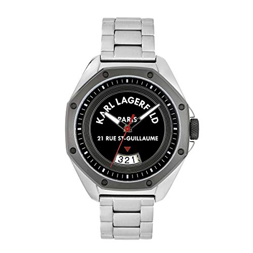 KARL LAGERFELD Men's S/S & GM Rue St. Guillaume Black Dial Bracelet Herrenuhr, 40mm, Quarz - 5552761