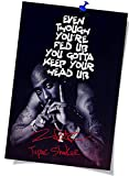 Music Rapper Tu-pac Sha-kur Posters Print Canvas Wall Art Home Decor Wall Pictures Photos for Bedroom Living Room (16inx24in-No Frame,2pac)