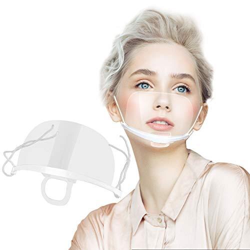 5 Stück Happy Chinese New Year Safety Kunststoff Visier Gesichtsschutz Anti-Öl Splash Transparent Schutzvisier - Essen Hygiene Spezielle Anti-Saliva Gesichtsschutzschirm