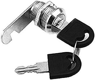 Doutop 引き戸 鍵 引き出し 錠 カムロック ショーケース ロック シリンダー錠 扉 キャビネット戸棚 食器棚 金属 補助錠 キー付き 2個 16mm 20mm 25mm 30mm