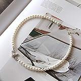 Bluesteer Planet Pearl Short Necklace Weiblich 925 Sterling Silber Schmuck Nische Ins Style Luxus Choker Geburtstagsgeschenk, Muschelperle