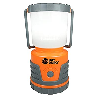 UST 30-DAY Duro LED Portable 700 Lumen Lantern with Lifetime LED Bulbs and Hook for Camping, Hiking, Emergency and Outdoor Survival, Orange