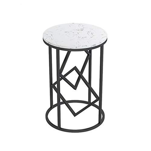 XZGang Round Table en métal, une seule couche marbre Table basse Petit Appartement Balcon Hôtel Chevet Flower Shop Jardinière vie simple (Color : C, Size : 40 * 60CM)