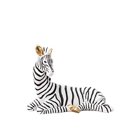 Zebra-Statue Dekoration, Pferdeskulptur Simulation Tier Afrikanisches Zebra Cartoon Zebra Desktop Statue Dekoration, A.